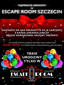 Urodziny - Escape Room Szczecin