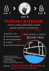 Ulotka A6 -tyl-duza mapka - Escape Room Dziwnow