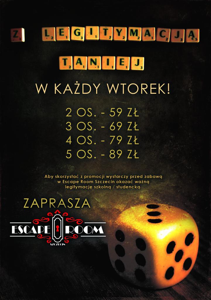 Znizka z legitymacja - 3 - Escape Room Szczecin